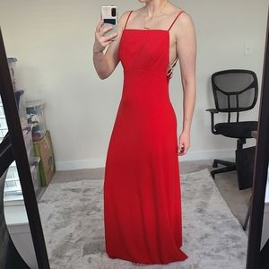 Faviana Red S 10205 Long Jersey Gown Size 12